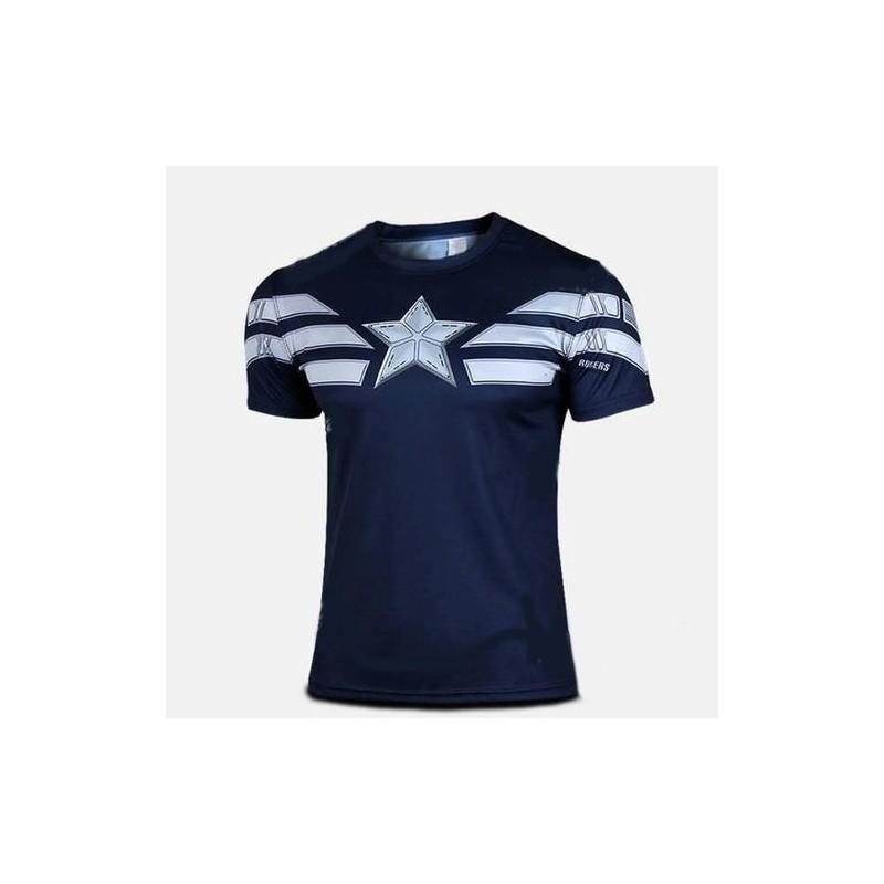 Playera Deportiva De Capitan America - Mr Tableta 2bb08a5df350b